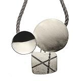 Серебряное колье с фианитами Интрига