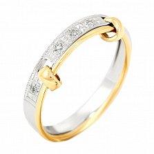 Обручальное кольцо с бриллиантами Верность