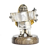 Серебряная статуэтка с позолотой Раввин