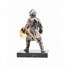 Бронзовая скульптура Сарацин с мечом на обсидиановой подставке