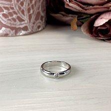 Серебряное кольцо Прайм с завальцованным фианитом
