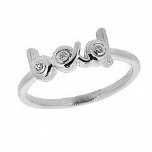 Серебряное кольцо с бриллиантами Bad
