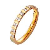 Золотое обручальное кольцо Верность с фианитами
