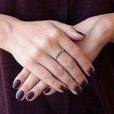Серебряное кольцо Шерон с черными фианитами