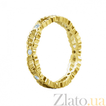 Обручальное кольцо из желтого золота с бриллиантами Стремительный порыв 184