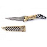 Серебряный нож с позолотой Собака