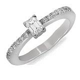 Кольцо из белого золота Бриджит с бриллиантами
