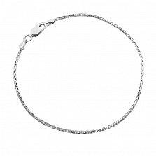Серебряный браслет Элегия с родием, 1 мм