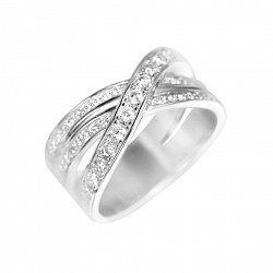 Серебряное кольцо Гелия с фианитами