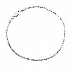 Серебряный браслет с родием, 1 мм 000025987