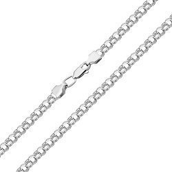 Серебряная цепочка в плетении бисмарк 000125231