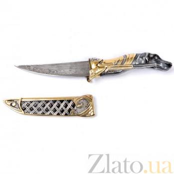 Серебряный нож с позолотой Собака 1157