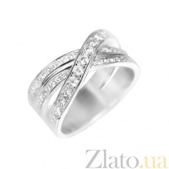 Серебряное кольцо Гелия с фианитами 000081627