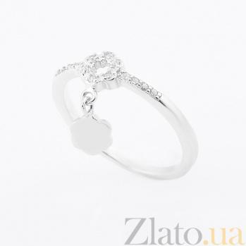 Серебряное фаланговое кольцо Белль с фианитами 000080131