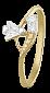 Серебряное кольцо с цирконием Джунг 000025587