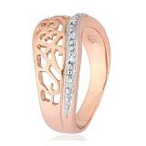 Серебряное кольцо с позолотой и фианитами Айгуль