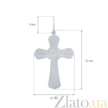Серебряный крест Небесный покровитель AQA--3555-б