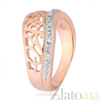 Серебряное кольцо с позолотой и фианитами Айгуль 000028190
