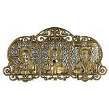 Автомобильная серебряная икона с позолотой Святое Семейство