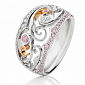Кольцо Argile из белого и розового золота с бриллиантами и розовыми сапфирами R-cjAr-W/R-25s-24d