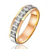 Золотое обручальное кольцо с бриллиантами Европа