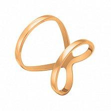 Кольцо Вечность в розовом золоте