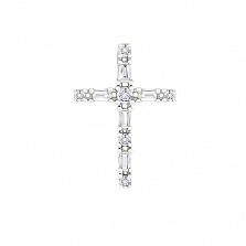 Золотой крестик Мистерия с бриллиантами