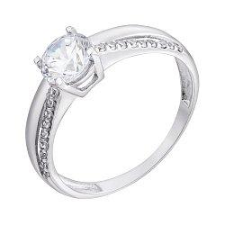 Серебряное кольцо с белыми фианитами 000088866