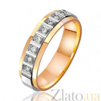 Золотое обручальное кольцо с бриллиантами Европа 000001115