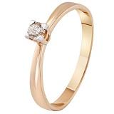 Золотое кольцо с бриллиантом Ариэль