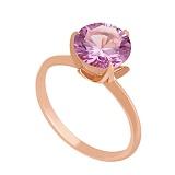Золотое кольцо с аметистом Азиза