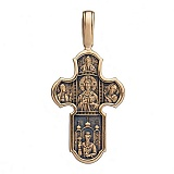Золотой крест с чернением Крещение Руси