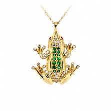 Золотое колье с бриллиантами, сапфирами и цаворитами Лягушки: Чудо бытия