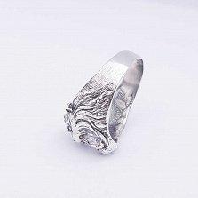 Серебряное кольцо Лев с фианитом