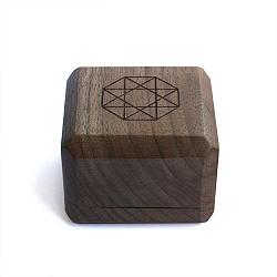 Брендовая деревянная упаковка Zlato для колец