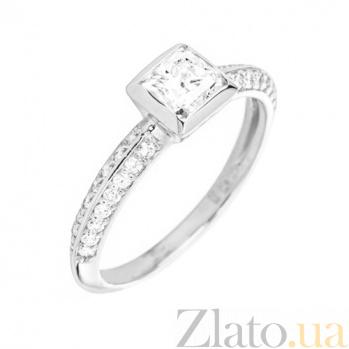 Кольцо из белого золота Ориеста с бриллиантами 000045908