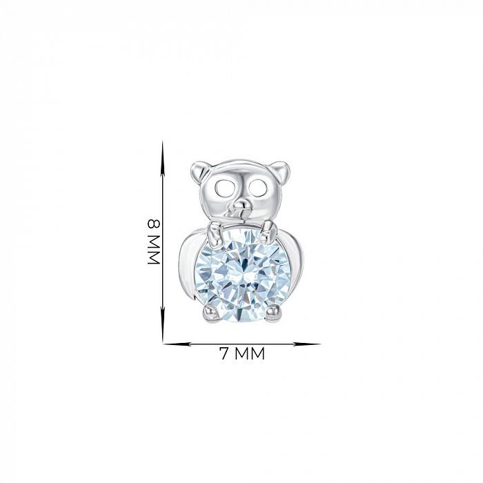 Серьги-пусеты из серебра с фианитами 000150213 000150213