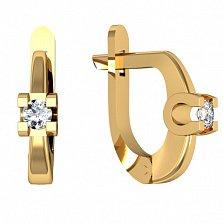 Серьги из желтого золота с бриллиантами Рапсодия любви