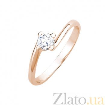 Кольцо в красном золоте Мy Lady с бриллиантом 000079256