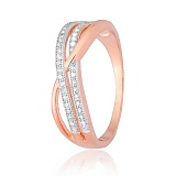 Позолоченное серебряное кольцо с фианитами Ванесса