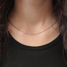Серебряная цепочка Каролина с плетением граненый снейк, 1мм
