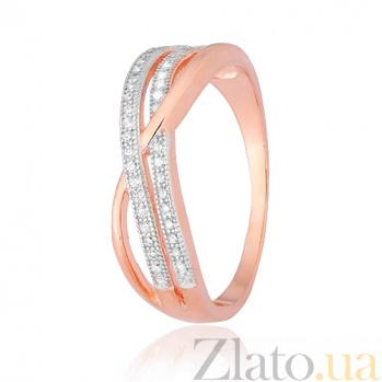 Позолоченное серебряное кольцо с фианитами Ванесса SLX--КК3Ф/202