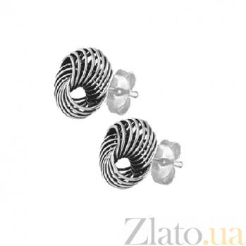 Серебряные сережки Вефрид SLX--С5/022