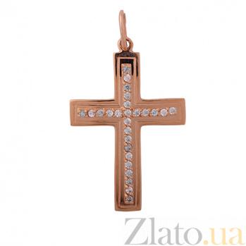 Золотой крест Сила с фианитами ONX--п01672