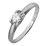 Золотое кольцо из белого золота Совершенство