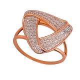 Золотое кольцо Бермуды с фианитами