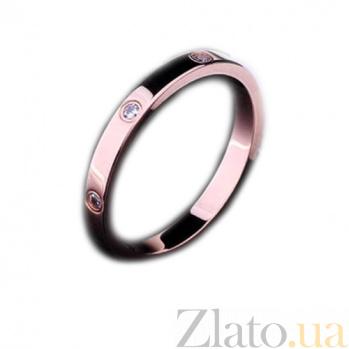 Золотое кольцо с фианитами Символ любви 000026397