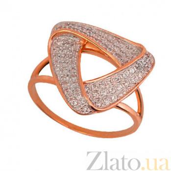 Золотое кольцо Бермуды с фианитами VLT--М1754