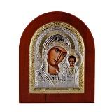 Икона Казанская Божья Матерь на деревянной основе, 20х25см