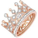 Позолоченное серебряное кольцо Чувство власти с фианитами